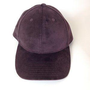 H & M Velour Baseball Hat Cap Unisex OS